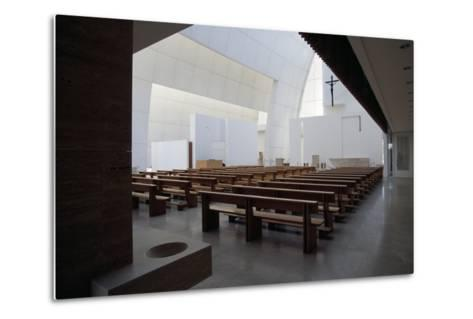 Interior of the Church of God Merciful Father or Dives in Misericordia by Architect Richard Meier (--Metal Print