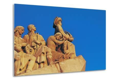 Monument to Discoveries, 1960, on Bank of Tagus River, Belem District, Portugal. Detail--Metal Print