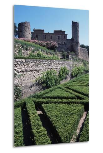 Terraced Garden of Chateau of Cazilhac, Le Bousquet-D'Orb, Languedoc-Roussillon, France--Metal Print