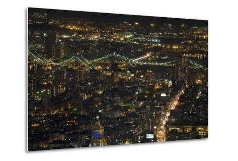 Aerial View of the Manhattan Skyline from the Top of the Rock at Rockefeller Center, New York, Usa--Metal Print