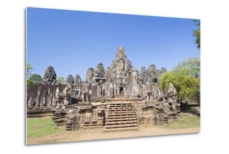 The South Side of the Bayon Temple, Angkor Thom, Angkor, Siem Reap, Cambodia--Metal Print