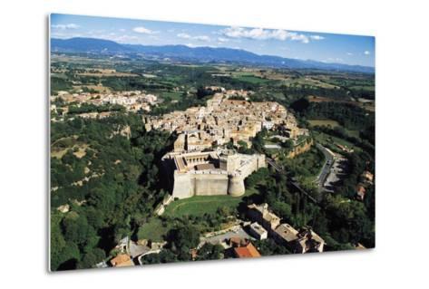 Sangallo Fort (15th-16th Century) and Town of Civita Castellana, Lazio, Italy--Metal Print