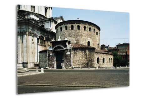 Old Cathedral (Duomo Vecchio) or Rotunda, 9th Century, Brescia, Lombardy, Italy--Metal Print