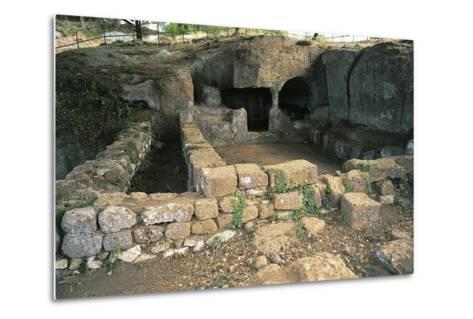 Ruins of Bronze Age Building, 12th Century Bc, Luni Sul Mignone, Lazio, Italy--Metal Print