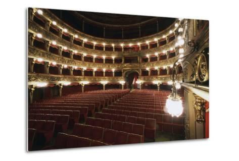 Stalls and Boxes in Carignano Theatre, 18th Century, Turin, Piedmont, Italy--Metal Print