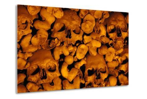Portugal. Evora. Chapel of Bones. Church of St. Francis. Walls are Covered with Human Skulls and Bo--Metal Print