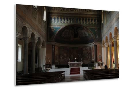 Italy. Rome. Basilica of Santa Maria in Domnica. Interior with the 9th Century Apse Mosaics--Metal Print