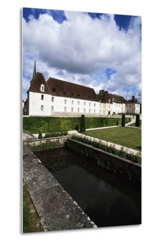 Chateau of Gilly in Gilly-Les-Citeaux Seen from Garden, Burgundy, France--Metal Print
