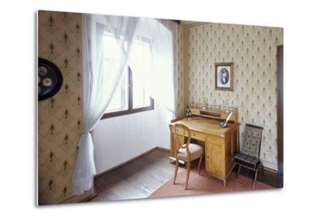Writing Desk of Bed?ich Smetana, Jabkenice, Central Bohemia, Czech Republic--Metal Print