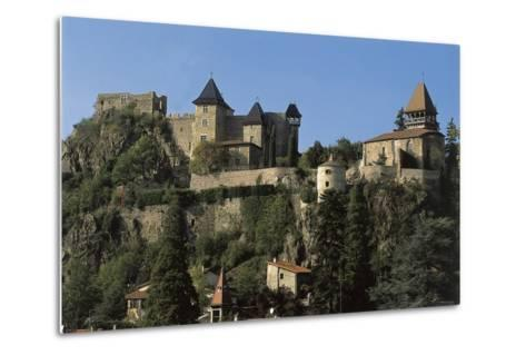 Low Angle View of a Castle, Saint-Paul-En-Cornillon, Rhone-Alpes, France--Metal Print