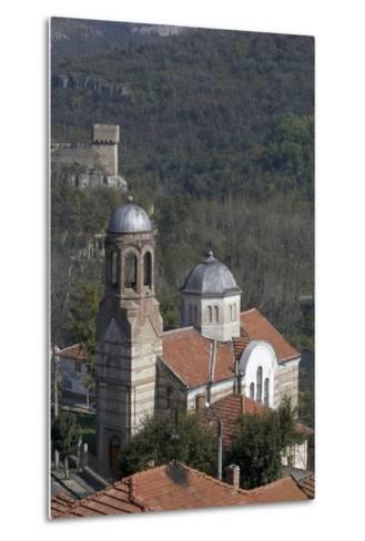 View of Church and Part of the Fortifications on Tsarevets Hill, Veliko Tarnovo, Bulgaria--Metal Print
