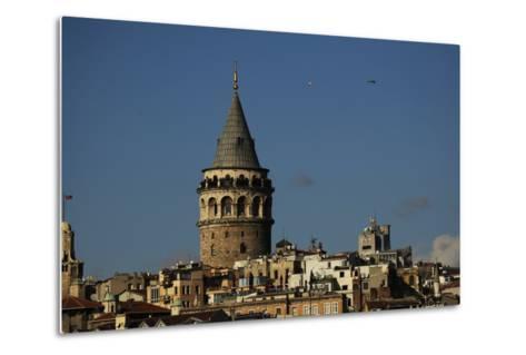 Turkey. Istanbul. Galata Tower. Medieva Stone Tower in Galata Quarter. Built in 1348--Metal Print