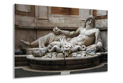 Roman Art. Marphurius or Marforio. Marble. Capitoline Museums. Rome. Italy--Metal Print