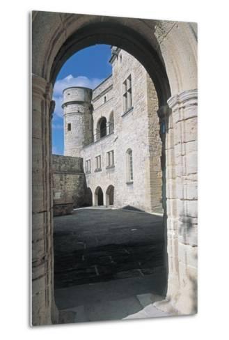 Archway of a Castle, Le Barroux Castle, Vaucluse, Provence-Alpes-Cote D'Azur, France--Metal Print