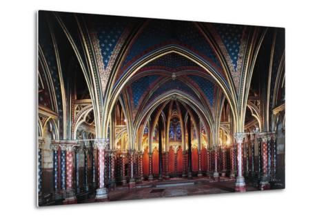 Interior of Lower Chapel, Sainte-Chapelle, 1246-1248, Paris, Ile-De-France, France, 13th Century--Metal Print