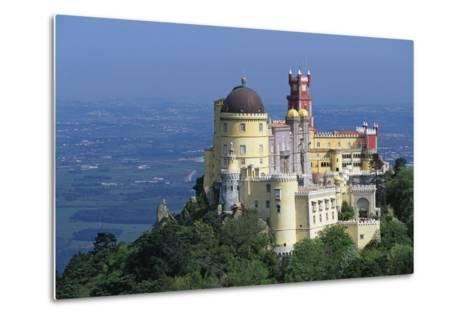 Pena National Palace, 19th Century, Mixture of Eclectic Styles, Sintra, Portugal--Metal Print
