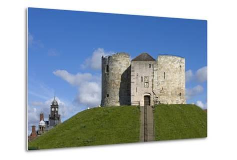 Clifford's Tower, Built by Henry III Between 1250-1275, York, North Yorkshire, United Kingdom--Metal Print