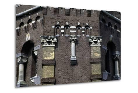 Capitals and Decorations on the Water Tower in the Hague (1874), the Netherlands--Metal Print