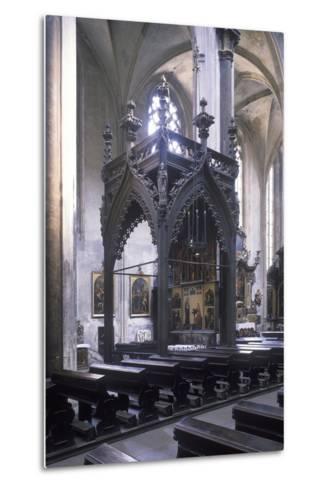 Baldachin by Mat?j Rejsek (1493), Church of Our Lady before T?n, Prague, Czech Republic--Metal Print