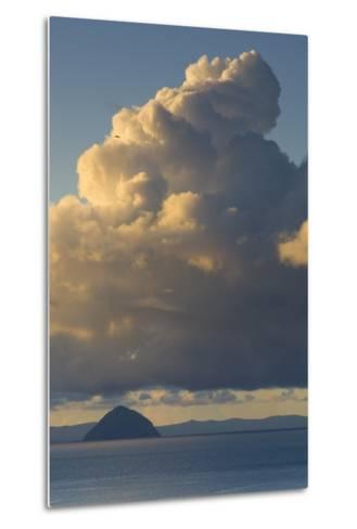 Cumulonimbus Clouds over Sea, Ailsa Craig, Isle of Arran, North Ayrshire, Scotland, Uk--Metal Print