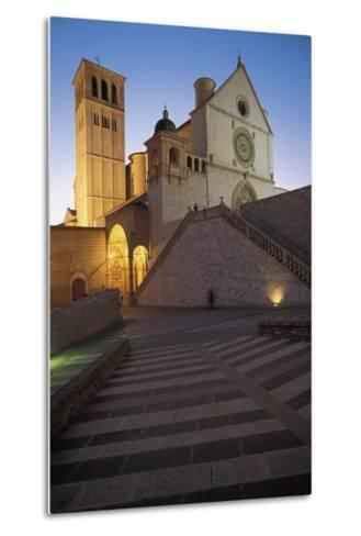 Low Angle View of a Church, Basilica of San Francisco, Assisi, Umbria, Italy--Metal Print