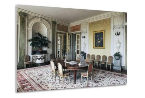 Dining Room of Chateau of Craon, 18th Century, Pays De La Loire, France--Metal Print