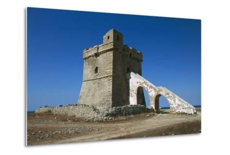 Squillace Tower, 16th Century, Porto Cesareo, Salento Peninsula, Apulia, Italy--Metal Print
