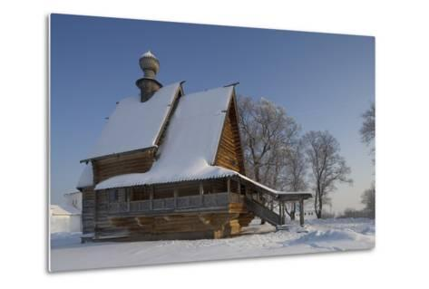 The Wooden Church of St Nicholas (1766), from Glotovo Village, Suzdal, Golden Ring, Russia--Metal Print