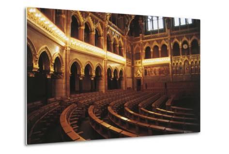 Parliament Hall, 1885-1904, Pest, Budapest (Unesco World Heritage List, 1987), Hungary--Metal Print