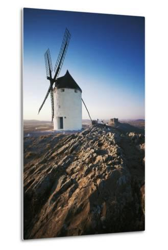 Windmills Along Road of Don Quixote at Consuegra, Castilla-La Mancha, Spain--Metal Print