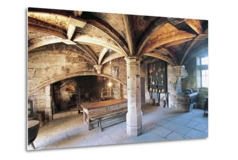 Room with Cross Vault, Chateau Ofs Bories, 16th-17th Century, Aquitaine, France--Metal Print