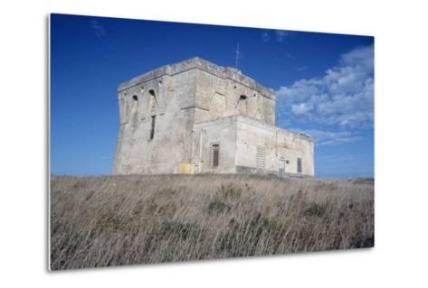 Aragonese Watch Tower, 16th Century, Torre Guaceto Natural Reserve, Apulia, Italy--Metal Print