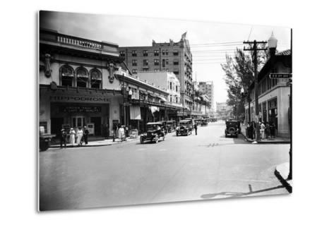 The Hippodrome Theater, on the Left at Ne 2nd Avenue and Flagler Street, 1924--Metal Print