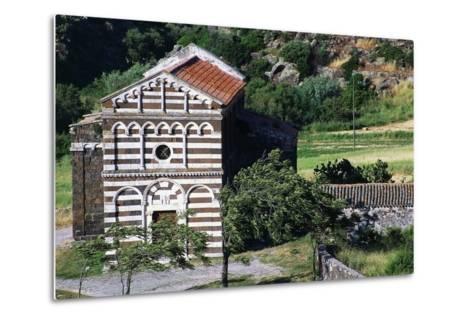 Church of St Peter of Images of Crucifix, 12th Century, Buzi, Sardinia, Italy--Metal Print
