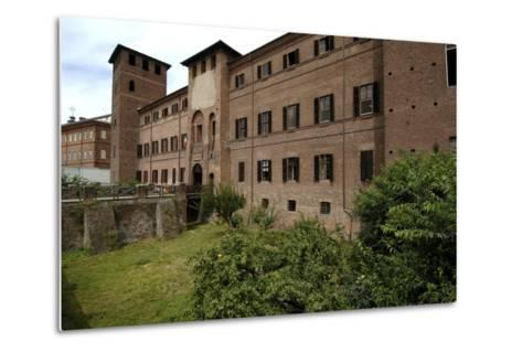 Visconti Castle (Founded in 13th Century), Now the Courthouse, Vercelli, Piedmont, Italy--Metal Print