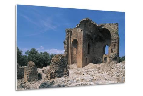 Low Angle View of a Ruined Building, Roccelletta Di Borgia, Calabria, Italy--Metal Print