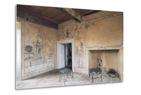 Room with Monochrome Frescoes, Chateau of Lacapelle-Marival, Midi-Pyrenees, France--Metal Print