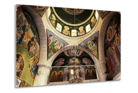The Frescoes in the Church of the Greek Orthodox Convent of St Thecla (Taqla), Maaloula, Syria--Metal Print