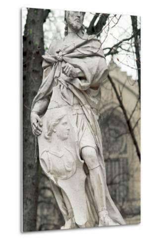 Ataulf. Germanic King of the Visigoths from 410 to 415. Statue. Vitoria-Gasteiz. Basque Country. Sp--Metal Print