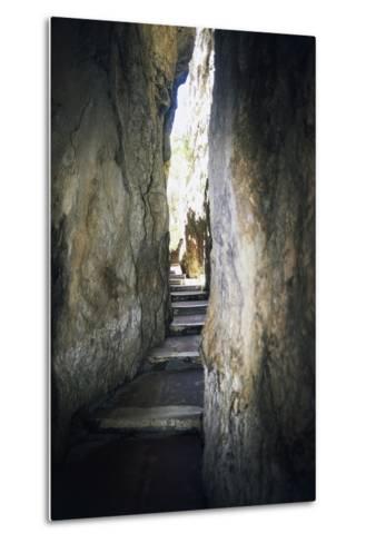 Staircase Carved into Split Mountain, Gaeta, Lazio, Italy--Metal Print