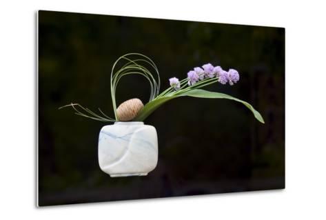 Ikebana, the Art of Flower Arrangement--Metal Print