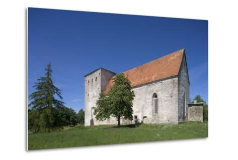 Poide Fortress-Church (13th-14th Century), Saaremaa Island, Estonia--Metal Print