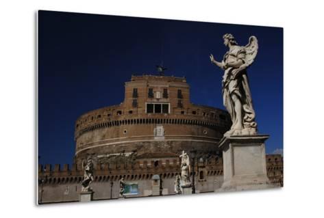 Mausoleum of Emperor Hadrian or Castle Sant'Angelo, Rome--Metal Print