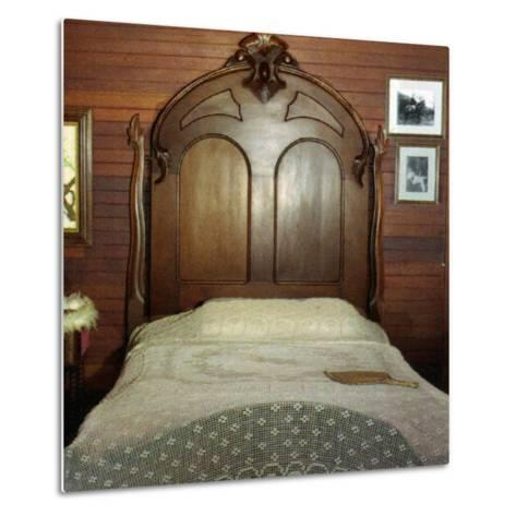Fanny's Bedroom, Villa Vailima, Apia, Samoa--Metal Print