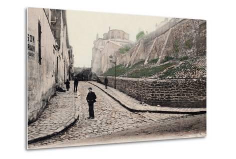 Rue Cortot, Old Montmartre, Paris, 1900--Metal Print