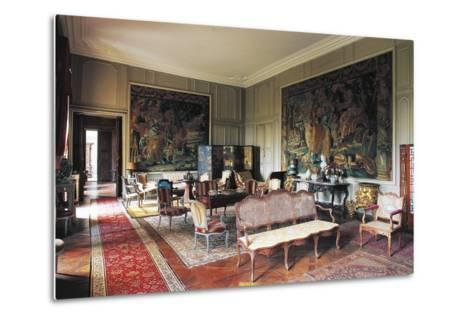 A Room in Chateau of Loyat, 18th Century, Brittany, France--Metal Print