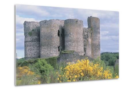 Old Ruins of a Castle, Chateau De Domeyrat, Auvergne, France--Metal Print