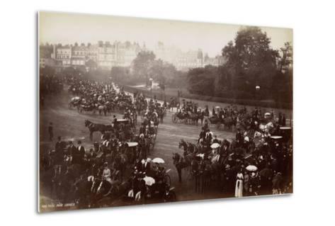 Hyde Park Corner, London, C.1885--Metal Print