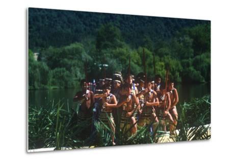 Ngaruawahia River Regatta, Maori Festival, Ngaruawahia, New Zealand--Metal Print