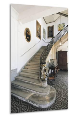 The Staircase of Chateau Latour, Midi-Pyrenees, France--Metal Print